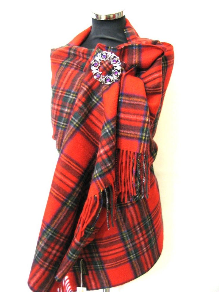 Royal Stewart Tartan 100% Scottish Cashmere Wrap | Royal ...