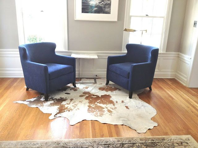 Pair Of Navy Blue Chairs For