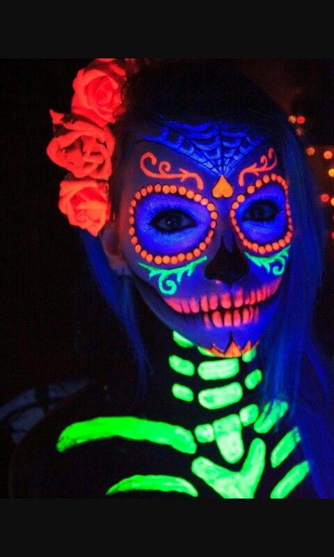 maquillaje de neon