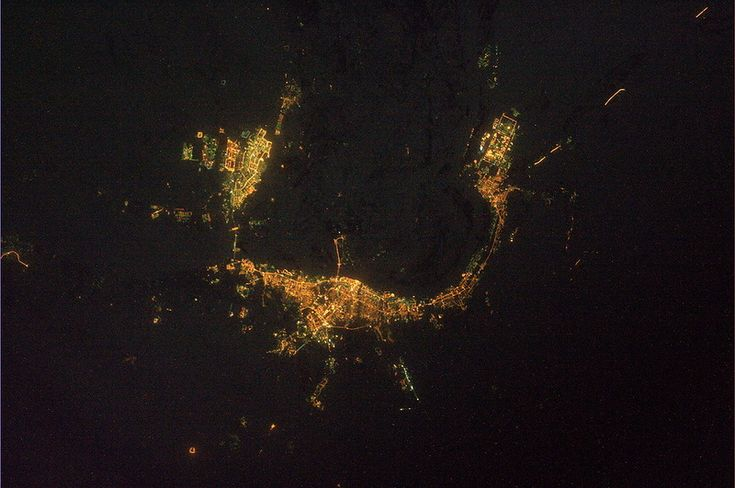 Ночной Волгоград из космоса