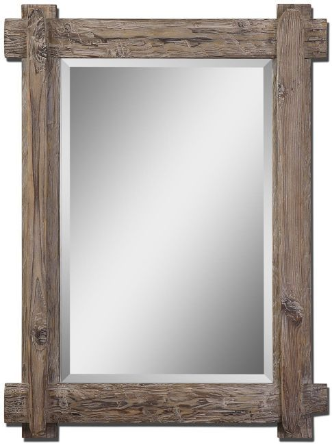 Lowest Price Online On All Uttermost Claudio Mirror In Light Walnut Stained Wood