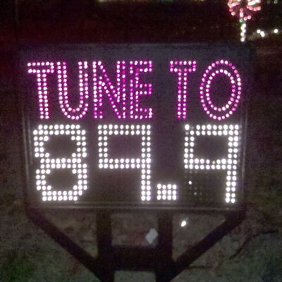 Fm Radio Frequency Sign Outdoor Christmas Decorations