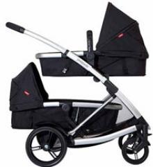 Phil & Ted's double bassinet, double pram stroller