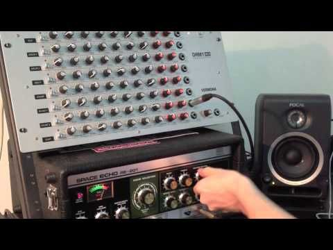 """Vermona DRM1 MkIII Drum Synth Module - red LEDs, 8 channels, analogue sound, 9 knobs per channel, main out thomann and 8x individual outputs/inserts, headphone output, MIDI in & thru, integrated power supply. Dimensions: 19""""/5U"""