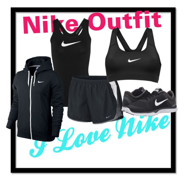 """""""Nike Running outfit"""" by amilne-10 ❤ liked on Polyvore featuring NIKE, workout and nike"""