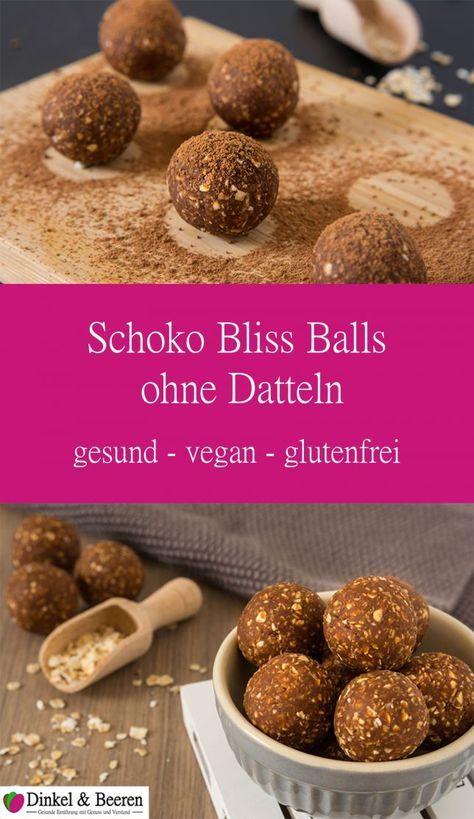 Schoko Bliss Balls ohne Datteln
