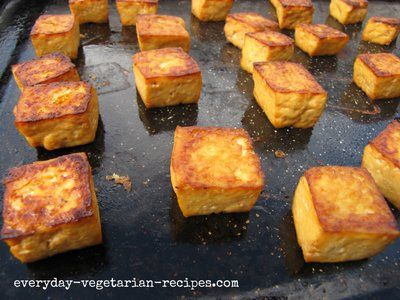 ways to cook tofu in the oven....I wanna try this!