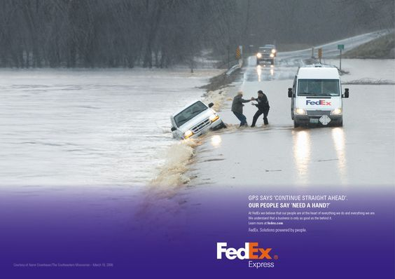 FedEx Express advertising campaign material