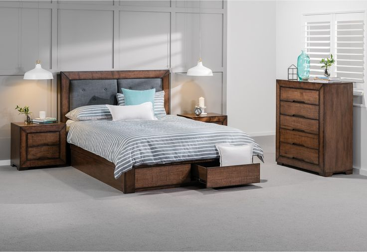 Boulder 4 Piece Queen Tall Chest Suite | Super A-Mart
