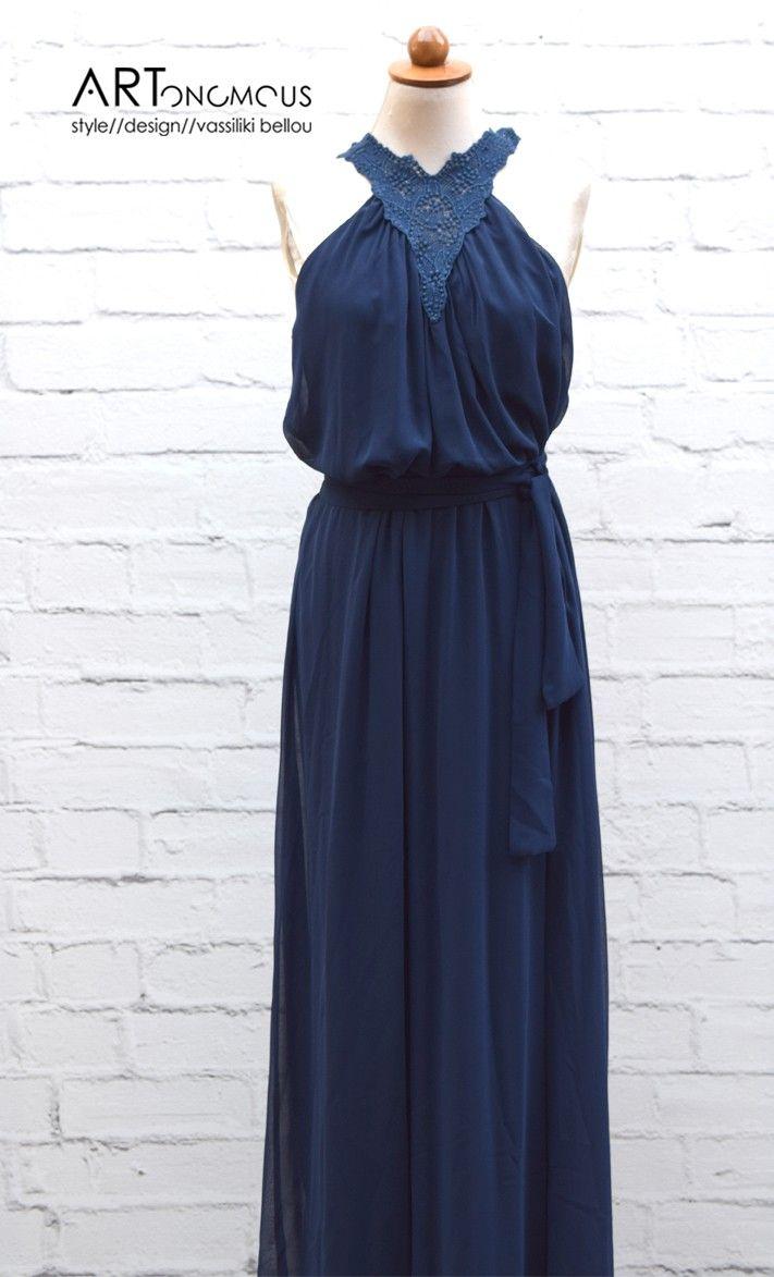 Blue Grecian style dress - ARTonomous // Style // Design