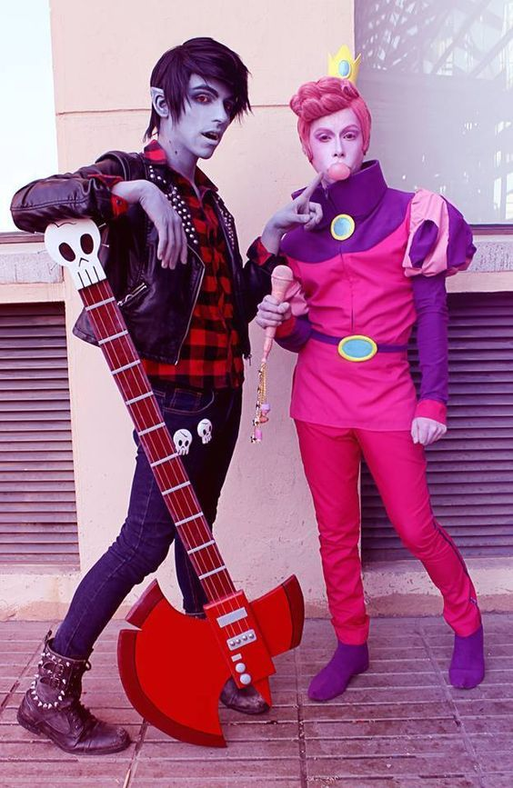 Marshall Lee x Prince Gumball - Adventure Time by InCielxCPherCosplay on DeviantArt #cosplayclass #cosplay #costume