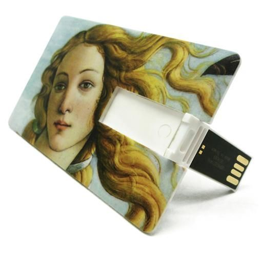 Very clever new marketing/promo pieces designed for the Uffizi. Love these USB cards!
