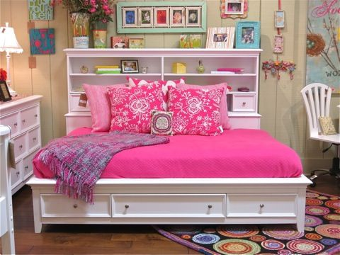 Girls Bed With Bookcase Amp Storage Country Willow