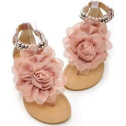 2013 womens flat flower summer sandal