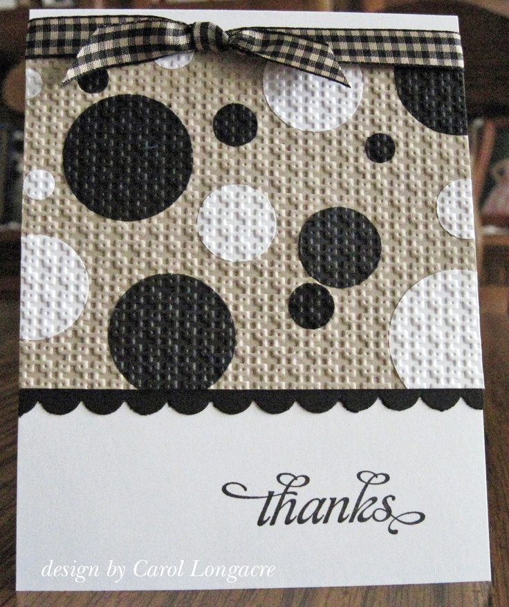 Our Little Inspirations: embossed black and white circles on craft paper