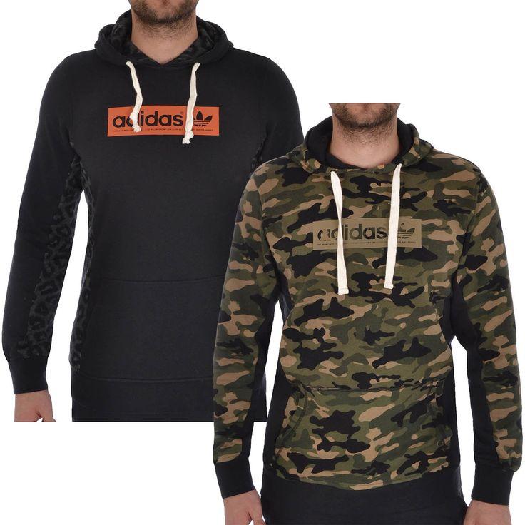 adidas Originals Mens Streetwear Hooded Hoodie Jumper Sweater Top - (B Grade) | eBay