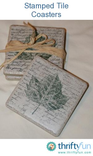 31 Best Stamped Handpainted Tile Coasters Images On