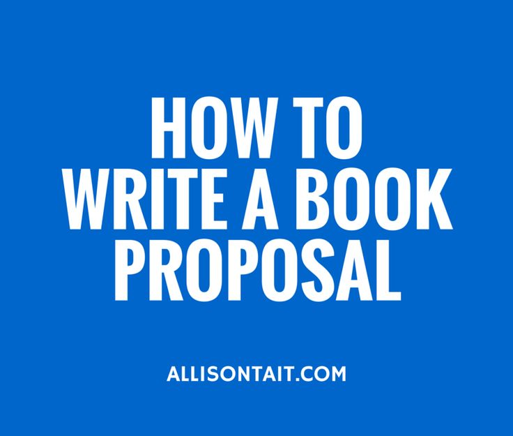 Industry Insider: How to write a book proposal