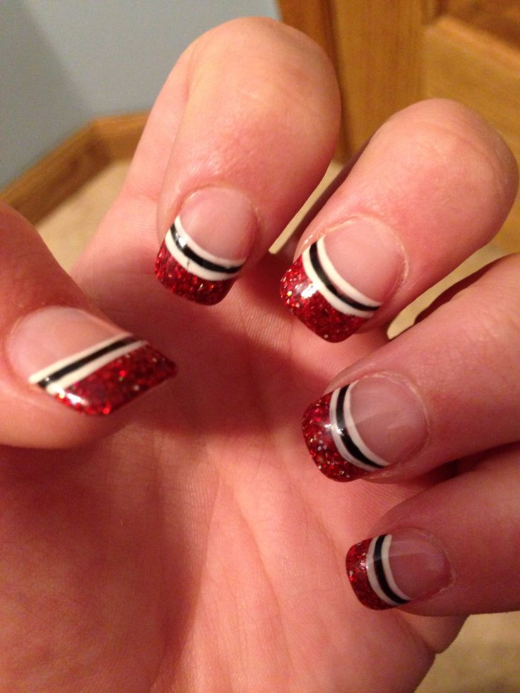 Sports Nails! #chicago #bulls #blackhawks