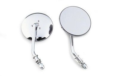 """Bikers Choice - Chrome 4"""""""" Round Right Mirror - fits '65-'15 Harley Davidson Models"""