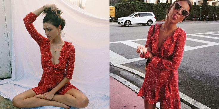 Dit rode jurkje met witte sterren was dé zomerjurk van 2016