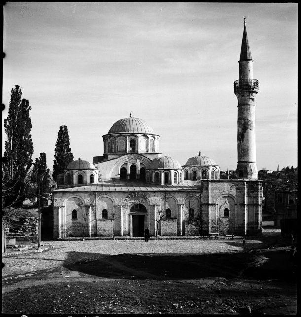 Istanbul, Kariye Camii, West facade, December 1935. Nicholas V. Artamonoff.