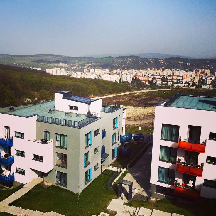 Panorama Clujului de la balconul Citadelei Residence  citadela-cluj.ro