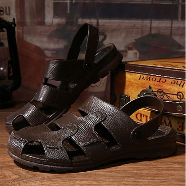 Men Beach Sandals Outdoor Flat Breathable Slipper