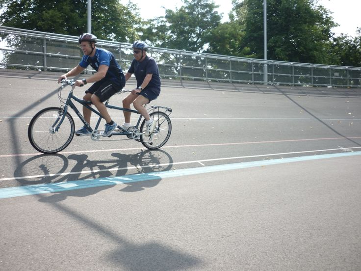 Racing tandem #bikes with Blind Veterans UK #cycling