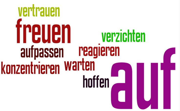 """Some verbs with """"auf"""""""