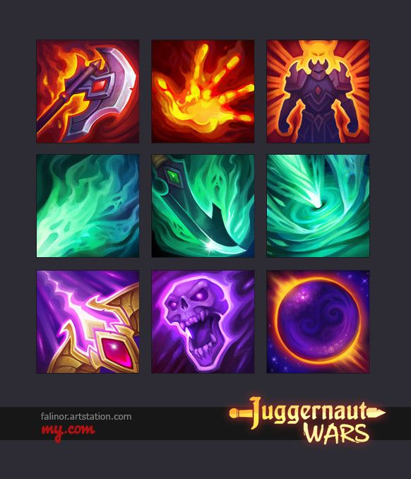 Hero Abilities – Destroyer Rogvor, Assassin Torus, Magician Uryan, Julia Titova on ArtStation at https://www.artstation.com/artwork/N421g