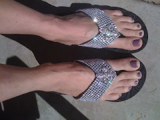 Bling Flip Flops, Rhinestone Flip Flops, Thongs,