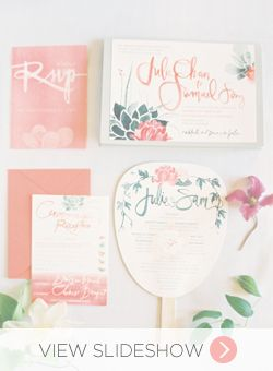 Peach & Mint Wedding Invitations   Watercolor Wedding Ideas