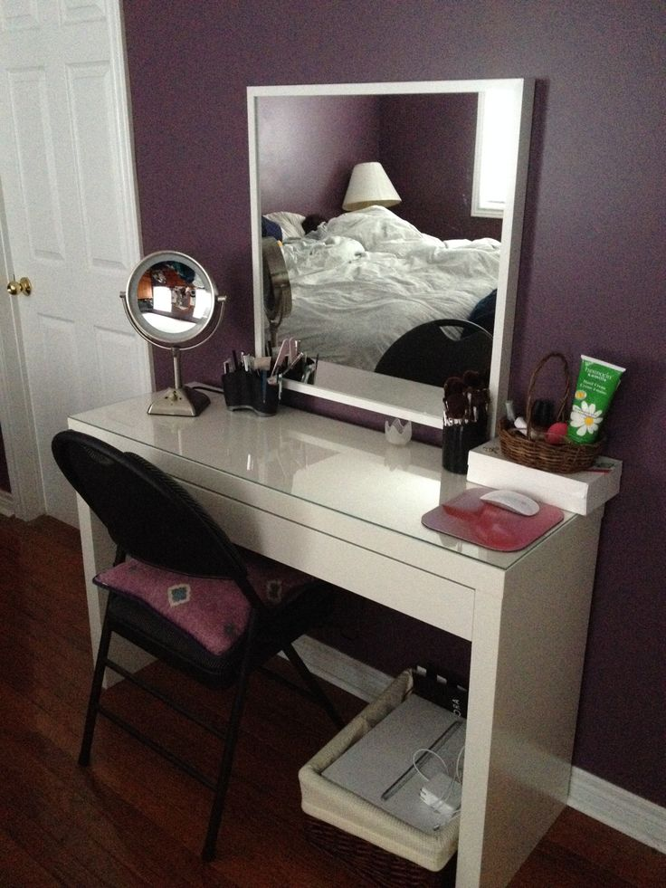 MALM Dressing Table $129 - http://www.ikea.com/ca/en/catalog/products/10203610/  STAVE Mirror - $30 - http://m.ikea.com/us/en/catalog/products/art/00223524/