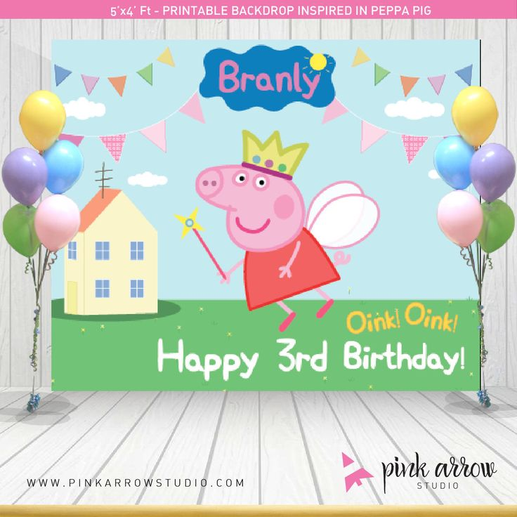 A personal favorite from my Etsy shop https://www.etsy.com/listing/254078386/peppa-pig-fairy-backdrop-peppa-pig