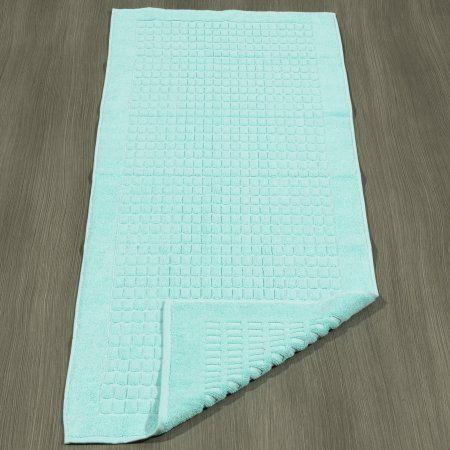 Ottomanson Heavyweight Cotton Towel Bath Tub Mat Runner, 20 inch x 59 inch, Turkish Cotton, Green
