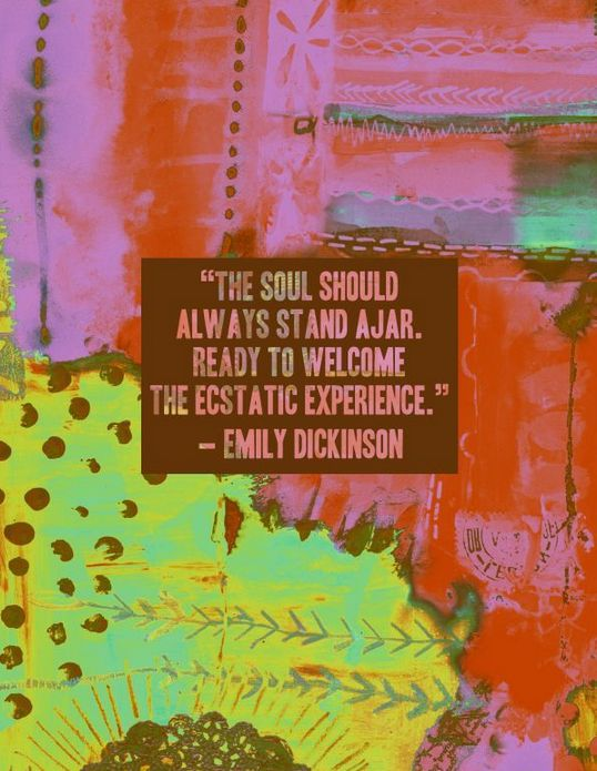 #emilydickenson #quotes #soul #soulsearching #art #artquotes. Quotes About  ArtThanksgiving HolidayChristmasEmily Dickinson ...