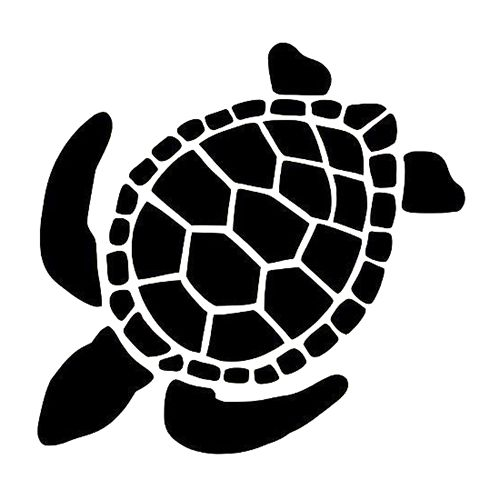 Sea Turtle Die Cut Vinyl Decal Pv993 Animal Stencil