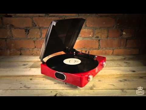 Stylo Vinyl Turnable Record Player | Red