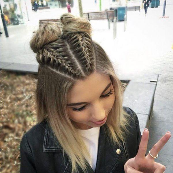 75 Cool And Cute Hairstyles For Girls Awesome Girls Out There Are Always L En 2020 Peinados Trenzados Para Cabello Corto Peinados Con Trenzas Peinados Cabello Corto