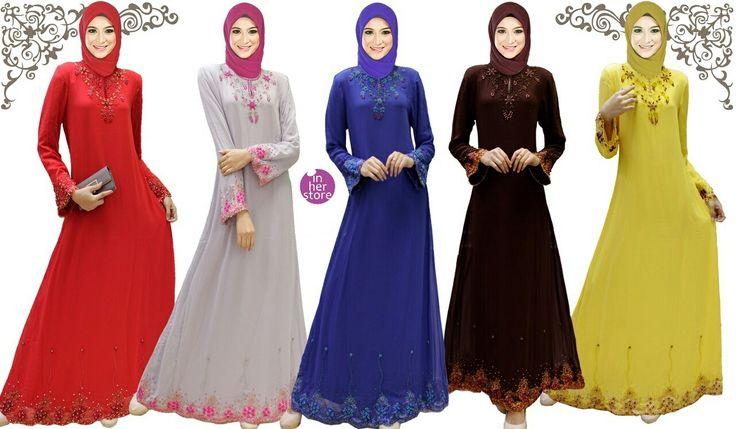 Dress Muslimah - Haga Series Material : Chiffon Cerruti Size : XS - S – M – L – XL Retail Price : Rp 300 rb/pc Reseler Price : Rp 275rb/pc (min.3pcs, mix size & colours allowed) PIN : 75BD8849 Line : go2dika