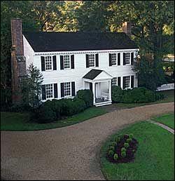 Bassett Hall, the Williamsburg home of John D. Rockefeller Jr. and his wife Abby Aldrich Rockefeller during Colonial Williamsburg's Restoration.
