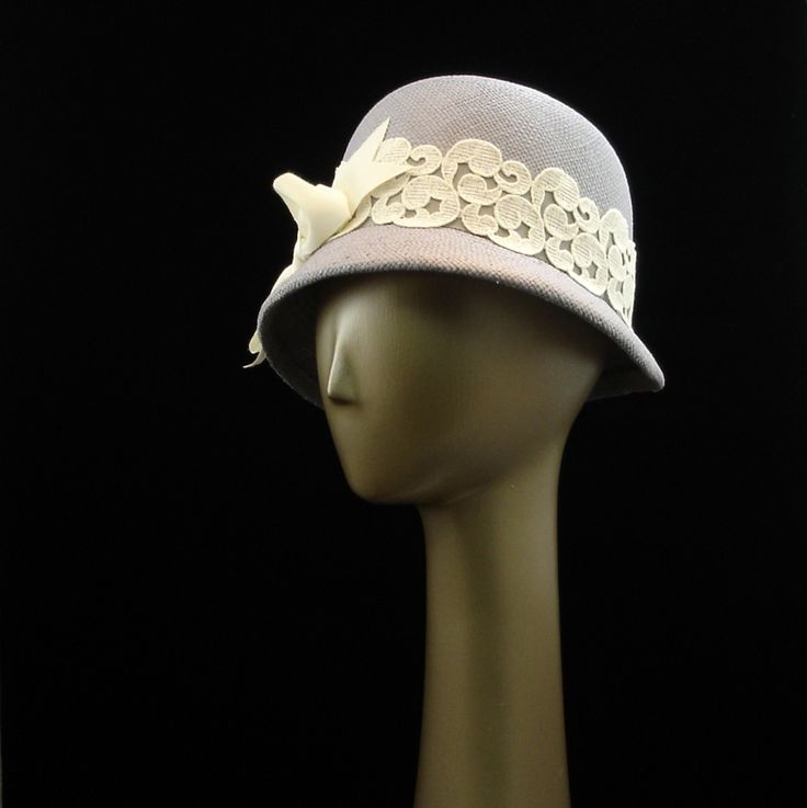 Cloche Hat for Women 1920s Fashion Hat Panama by TheMillineryShop, $225.00