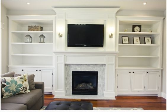 Living Room Built In Cabinets