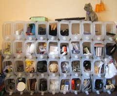 Modular Water Jug Storage Bins  http://www.instructables.com/id/Modular-Water-Jug-Storage-Bins/