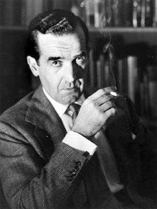 """Edward R. Murrow ~ """"Edward Roscoe Murrow (born Egbert Roscoe Murrow, April 25, 1908 – April 27, 1965) was an American broadcast journalist. He first came to prominence with a series of radio news broadcasts during World War II, which were followed by millions of listeners in the United States and Canada. Fellow journalists Eric Sevareid, Ed Bliss, and Alexander Kendrick considered Murrow one of journalism's greatest figures, noting his honesty and integrity in delivering the news."""""""