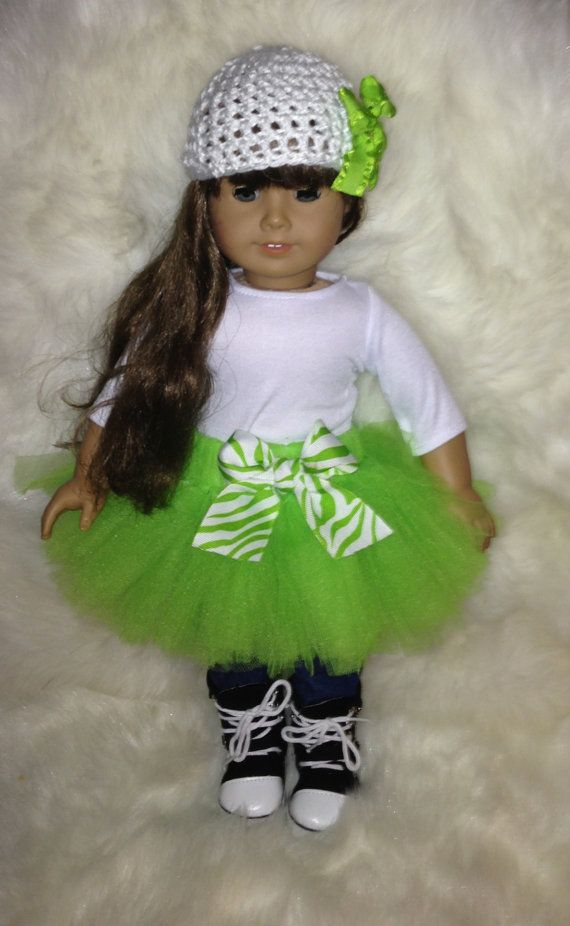 American Girl Doll - Light Green