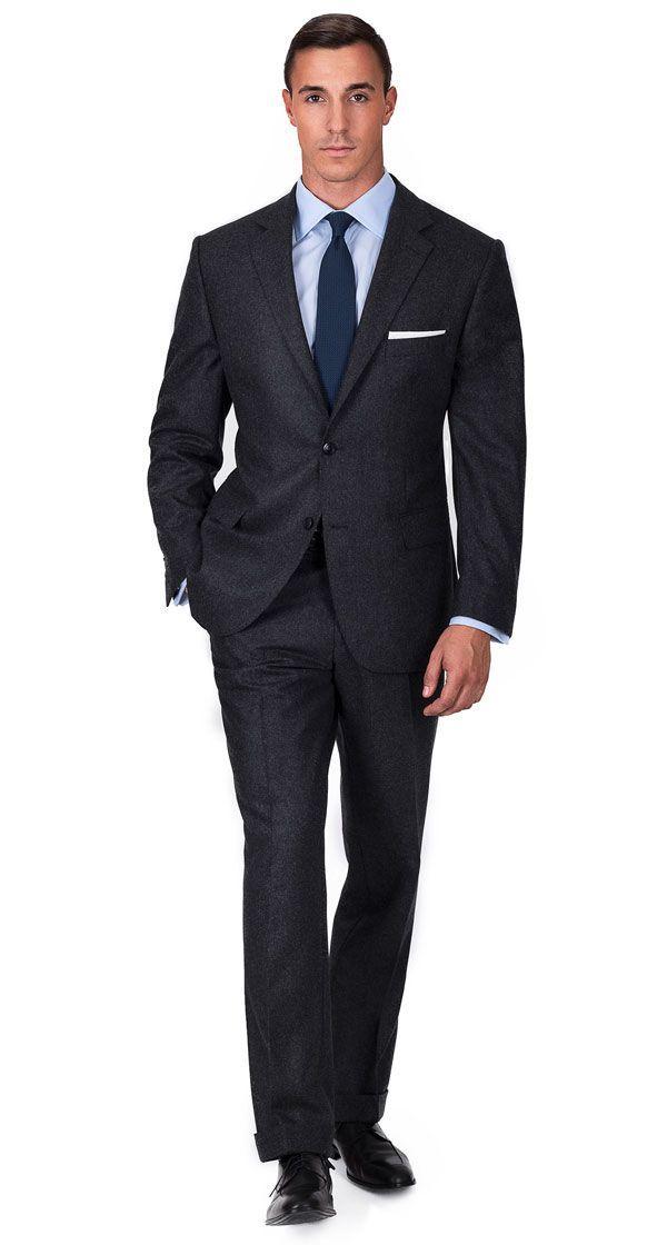 ffecaa85 Hugo Boss · Charcoal Wool Flannel Suit #Menssuits Mens Charcoal Suit, Mens  Fashion Suits, Mens Suits