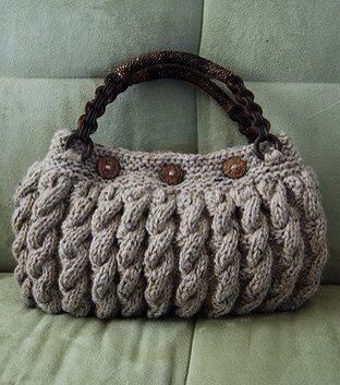 """Bolso crochet"" There isn't a link for this bag but I like it and thought the image might inspire something in the same manner. S"