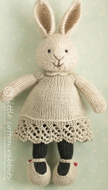 little cotton rabbit - how sweet! pattern isn't available - how sad!